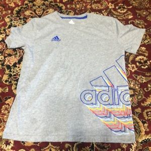 Gray Adidas boy cotton t shirt